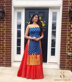 25 Trending Lehenga Designs For You Indian Gowns Dresses, Indian Fashion Dresses, Indian Designer Outfits, Designer Dresses, Indian Outfits, Long Gown Dress, Sari Dress, Anarkali Dress, Saree Gown