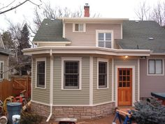 Fort Collins Craftsman Living Room Addition - traditional - exterior - denver - Silver Run Architects perfet for new childcare space! Traditional Exterior, Room Additions, Fort Collins, Prefab, House Front, House Rooms, Childcare, Curb Appeal, Home Remodeling