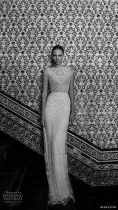 alon livne 2017 bridal cap sleeves jewel neck full embellishement elegant sophicated sheath wedding dress keyhole back sweep train (wendy) mv -- Alon Livne White 2017 Wedding Dresses