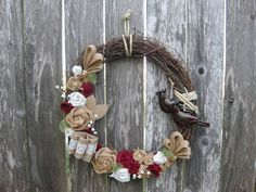 Christmas Wreath Winter Wreath Nativity by rosepetalpretties