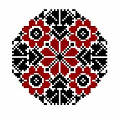 FolkCostume&Embroidery: Crosss stitch embroidery of the Vierlande, Germany Embroidery Motifs, Types Of Embroidery, Ribbon Embroidery, Cross Stitch Embroidery, Cross Stitch Patterns, Palestinian Embroidery, Circular Pattern, Christmas Embroidery, Loom Beading