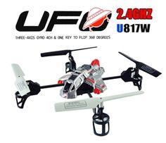 UDI U817W Drone 4 Channel 3-Axis RC Quadcopter RTF 2.4GHz $49.99