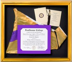 Celebrate your greatest achievements with #custom #framing!