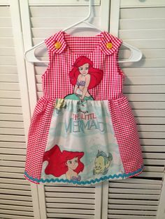 Disney Park Outfit Little Mermaid dress. I made this for a little girls birthday present.