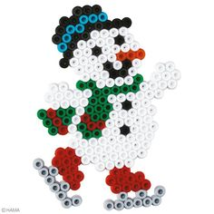 Perles Hama Midi - Coffret Noël 2 - 2000 perles - Kit perles à repasser - Creavea - Diy Weihnachten - Pearler Bead Patterns, Pearler Beads, Fuse Beads, Christmas Perler Beads, Art Perle, Motifs Perler, Hama Beads Design, Iron Beads, Melting Beads