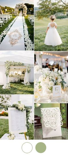 elegant white wedding ideas for spring