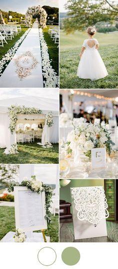 elegant white wedding ideas for spring