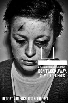 """Anti-violence posters: Tag your """"friends"""" by Denisa Nistor, via Behance"""