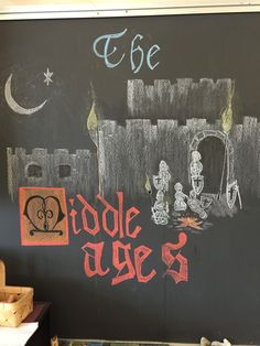 Intro to Middle Ages, chalkboard drawing Waldorf grade 6 Picture, Pinterest inspired