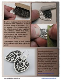 Using Styrofoam To Texture Metal Clay - Spoil Me Silly Jewellery, Findings and Gifts Metal Clay Jewelry, Sea Glass Jewelry, Rubber Texture, Precious Metal Clay, Bijoux Diy, Tampons, Metal Working, Jewelry Crafts, Polymer Clay