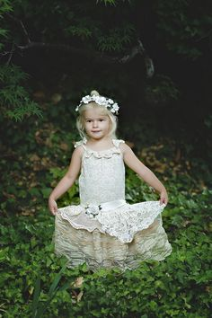 Hey, I found this really awesome Etsy listing at https://www.etsy.com/listing/236654946/ivory-lace-flower-girl-dressboho-ivory