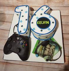 Boys 16th birthday cake gaming Xbox controller ww2