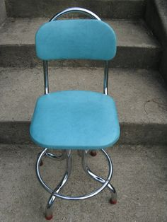mid century chrome and turquoise atomic style by rivertownvintage, $125.00