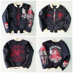Vintage Japan Tedman BRM Maria Tattoo Blood MEssage Zen Punk Rock Sukajan Souvenir Jacket - Japan Lover Me Store