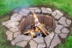 New Ideas | DIY Firepit We're soooo refitting our fire pit circle sunk into the yard!
