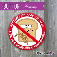 XL Button ♥ Allergiker ♥ 59 mm von Kuschelich auf DaWanda.com