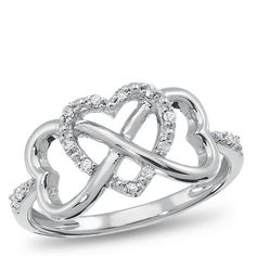 Infinity Heart Anniversary Ring...this would be awesome if the other two hearts could be our birthstones :)