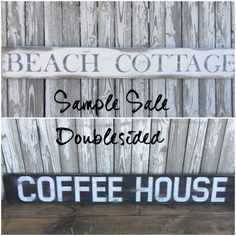 A personal favorite from my Etsy shop https://www.etsy.com/listing/470380841/doublesided-sign-coffee-house-sign-wood