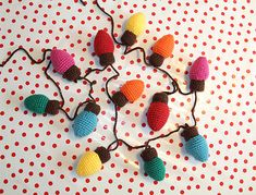 Crocheted Christmas Lights Garland