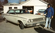 Car 96 - 1965 Dodge Coronet - A plain Jane Coronet 318 came up for sale and I could see a Ramchargers Max Wedge drag car clone just begging to be born!  Purchased 12-30-89.