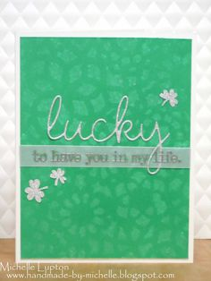Handmade by Michelle: Fusion - Lucky Days