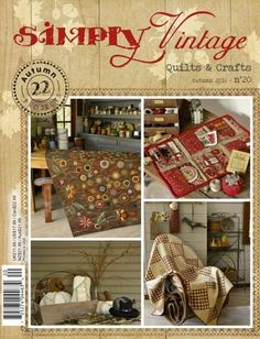 Simply Vintage #20 From Quiltmania - Books & Magazines - Quilting & Patchwork - Casa Cenina