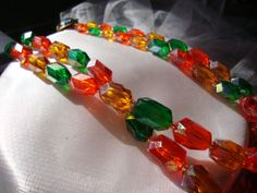 Fabulous Bright Bead Necklace  West Germany by melmacparadise, $22.00