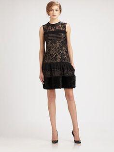 Diane von Furstenberg Alty Astra Mixed-Media Dress