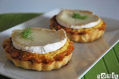 Tartaleta de cebolla, hinojo y queso de cabra   L'Exquisit