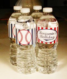 Printable Baseball Party Water Bottle Labels by WhenIWasYourAge, $5.00