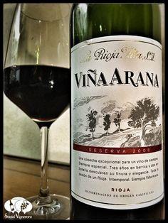 2008 La Rioja Alta SA Vina Arana Reserva Tempranillo bottle glass wine front…