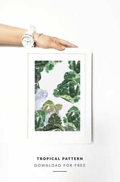 FREEBIE | TROPICAL PATTERN | Palm, Leaf, Banana | Download for...