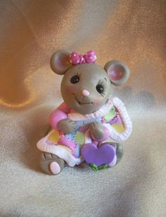 mice mouse personalized Christmas ornament cake topper by clayqts