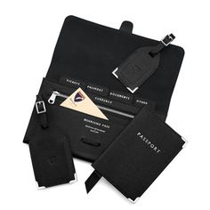 COMPLIMENTARY PERSONALISATION OF INITIALS The perfect travel accessory to your hand luggage, make sure you stay organised in style with the Aspinal Classic Travel Collection. Handmade from the finest black saffiano textured Italian calf leather...