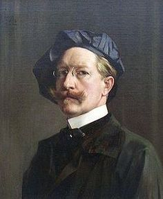 Self Portrait by Hubert Vos (Dutch, 1855-1935)
