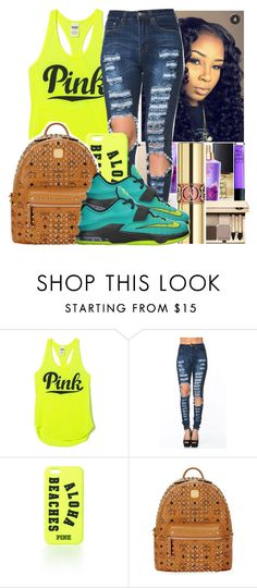 """Untitled #913"" by chynaloggins ❤ liked on Polyvore featuring Victoria's Secret, MCM, NIKE, women's clothing, women, female, woman, misses and juniors"