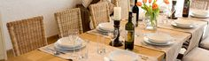 View of the dining area at Casa Bella, Luxury Villa to Rent in Istria, Croatia.