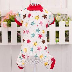 Soft Cozy Dog Jumpsuit Pajamas Pet Cat Star Rabbit T-shirt Apparel Clothes Large 2016 #Affiliate
