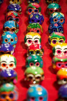 dia de los muertos skulls, Mexico.
