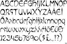 Mucha - Art Nouveau Font
