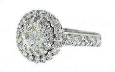 Round brilliant cut diamond claw set with 2 dia claw set halo and diamond channel set band in white gold | Brisbane Australia Jeweller | Engagement Rings | MONTASH Jewellery Design | www.montash.com.au
