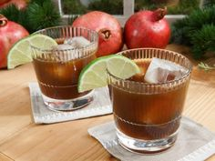 Get Pomegranate Molasses Ginger Spritzer Recipe from Food Network