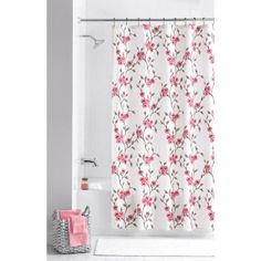 Mainstays Multi Color Amelia 13 Piece Floral Shower Curtain Set, Hooks  Included,