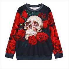 """Roses and Skull Sweatshirt is perfect for any skull lover out there. Meet our Limited Edition 3D Roses & Skull Hoodie meant to draw the """"OOHs"""" and the """"AHHs"""" from all of your friends. Get FREE Shipping Today! #skull #skullsforchange #roses"""