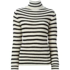 Iro Striped Turtleneck Sweater (2.734.730 IDR) ❤ liked on Polyvore featuring tops, sweaters, striped turtleneck, turtleneck sweater, black white sweater, striped turtleneck sweater and striped sweater