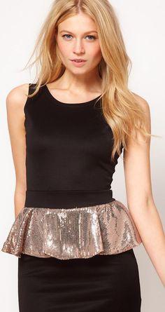 peplum party dress! love the sequins!
