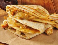 Chicken and Cheese Quesadillas take 5 minutes to put together and are so delicious!