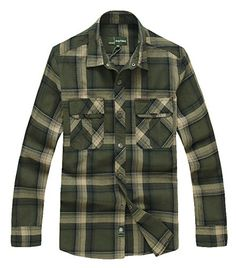 Chicside Men's Spring Fashion Street Style Breathable Cotton Plaid Short Shirt