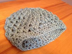 Soft Grey Puff Stitch Hat