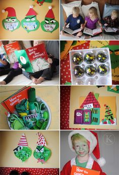 How the grinch stole christmas gift basket for your kids.